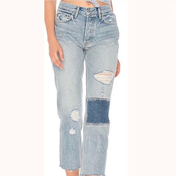 GRLFRND Denim - GRLFRND The Helena Patchwork Morrison Jeans